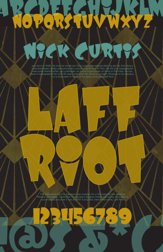 Font & Designer Poster