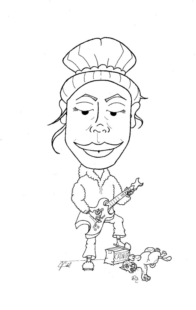 Caricature by Joey Cahill