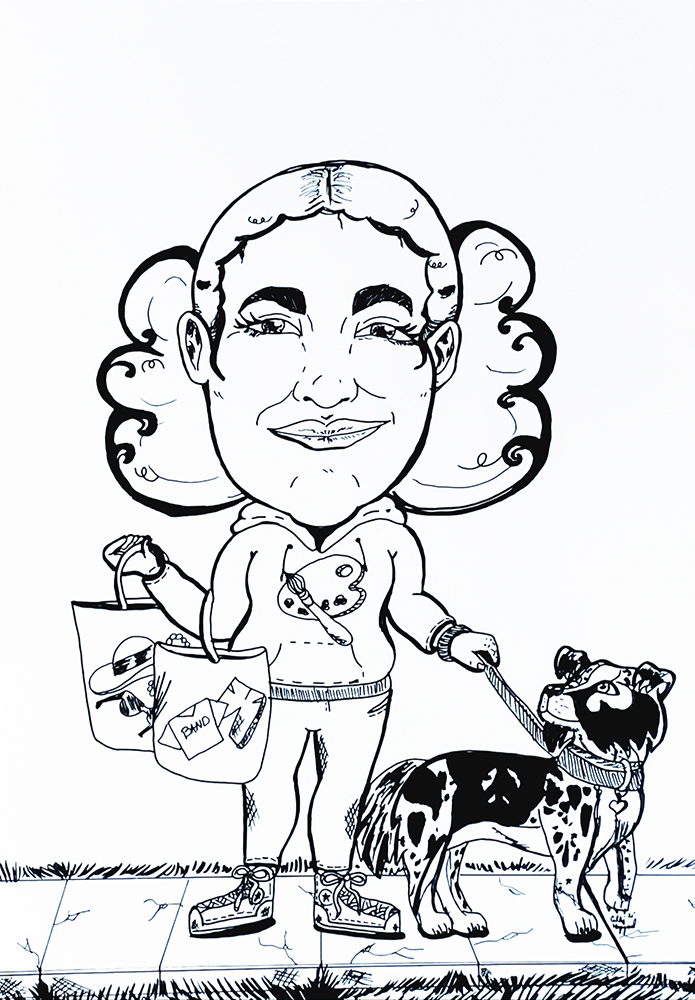 Caricature by Cally Hazzard
