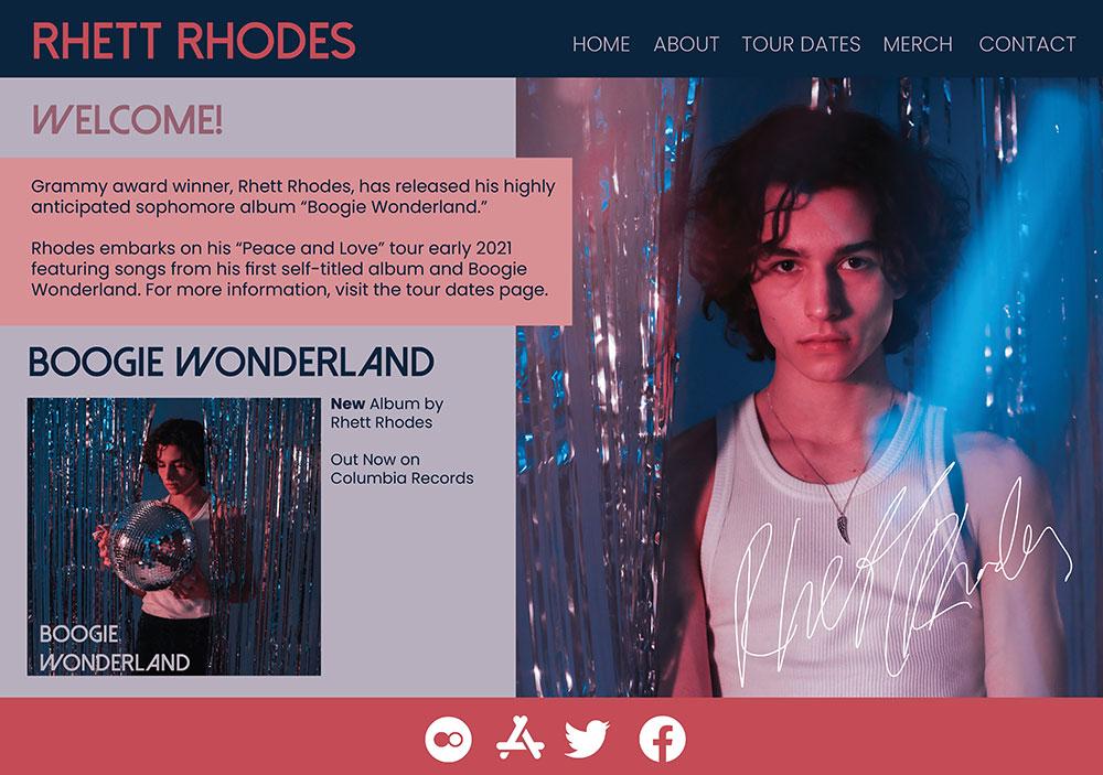 Vinyl Webpage Mockup by Charlotte Schepers