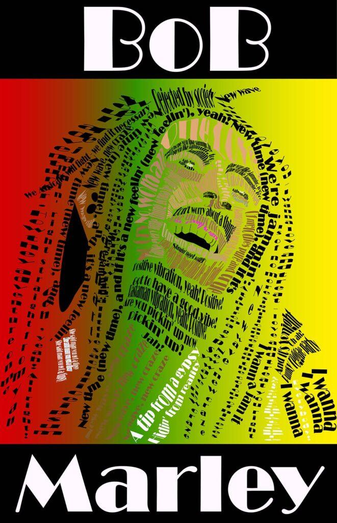 Bob Marley Type Portrait