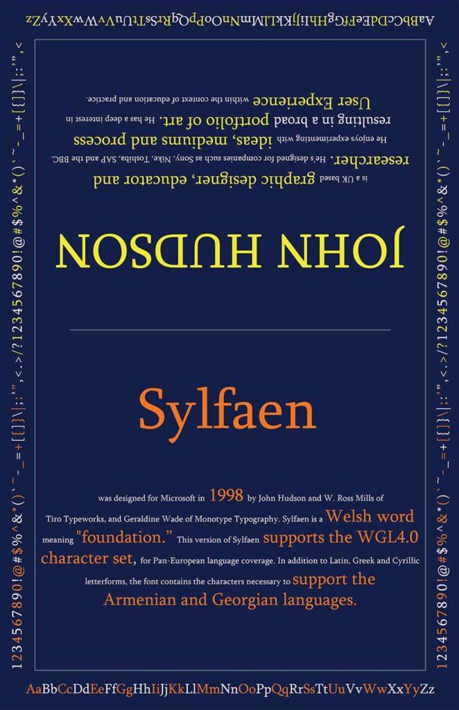 Sylfaen Type Poster