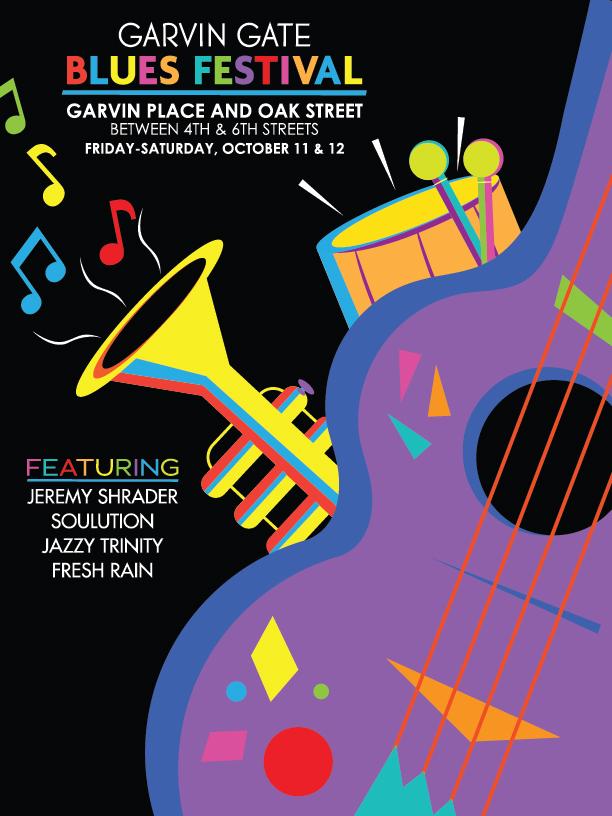 Garvin Gate Blues Festival Poster by Kyle Shook