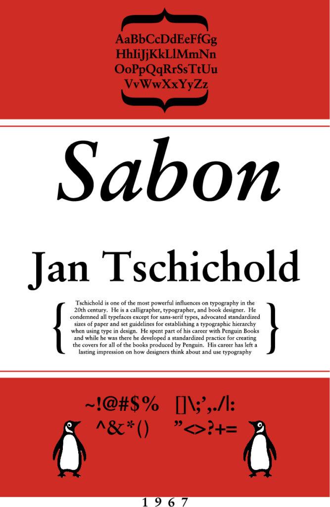 Sabon Penguin Font Poster