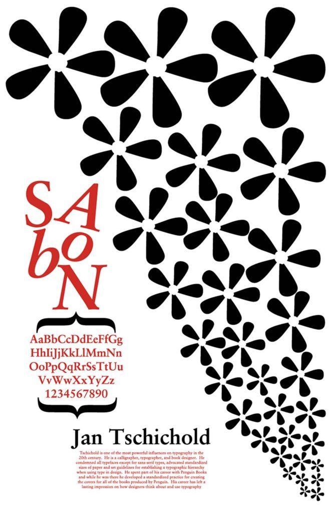 Sabon Font Poster