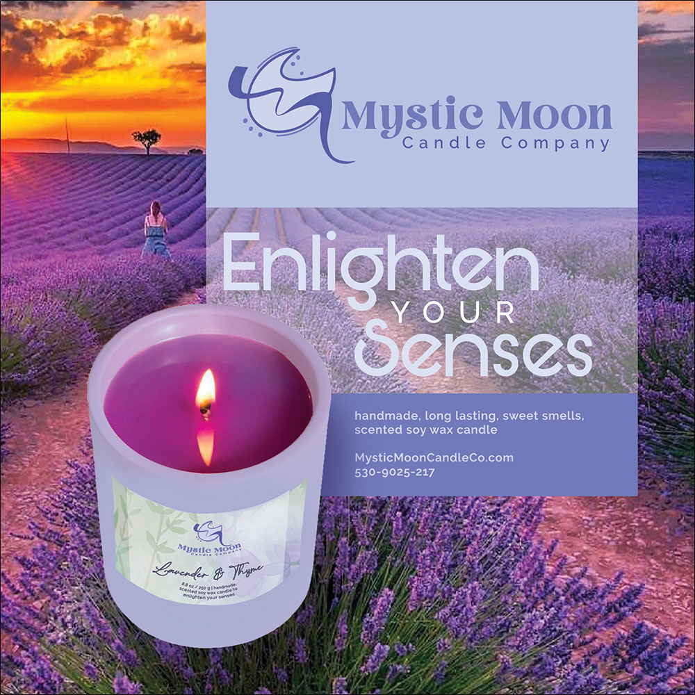 Mystic Moon Candles Magazine Advertisement