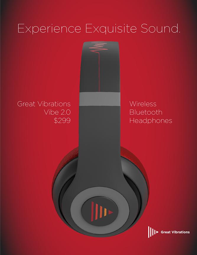 Great Vibrations Earphones Magazine Advertisement