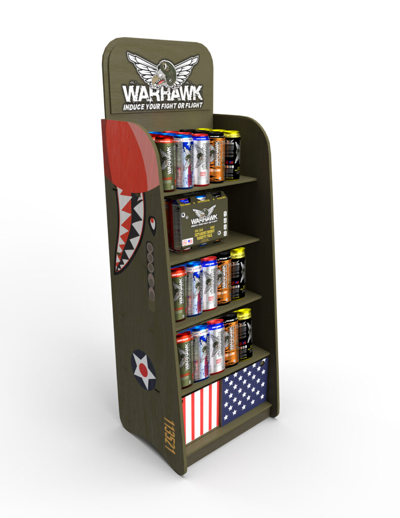 Warhawk Energy Drink Point of Purchase Display
