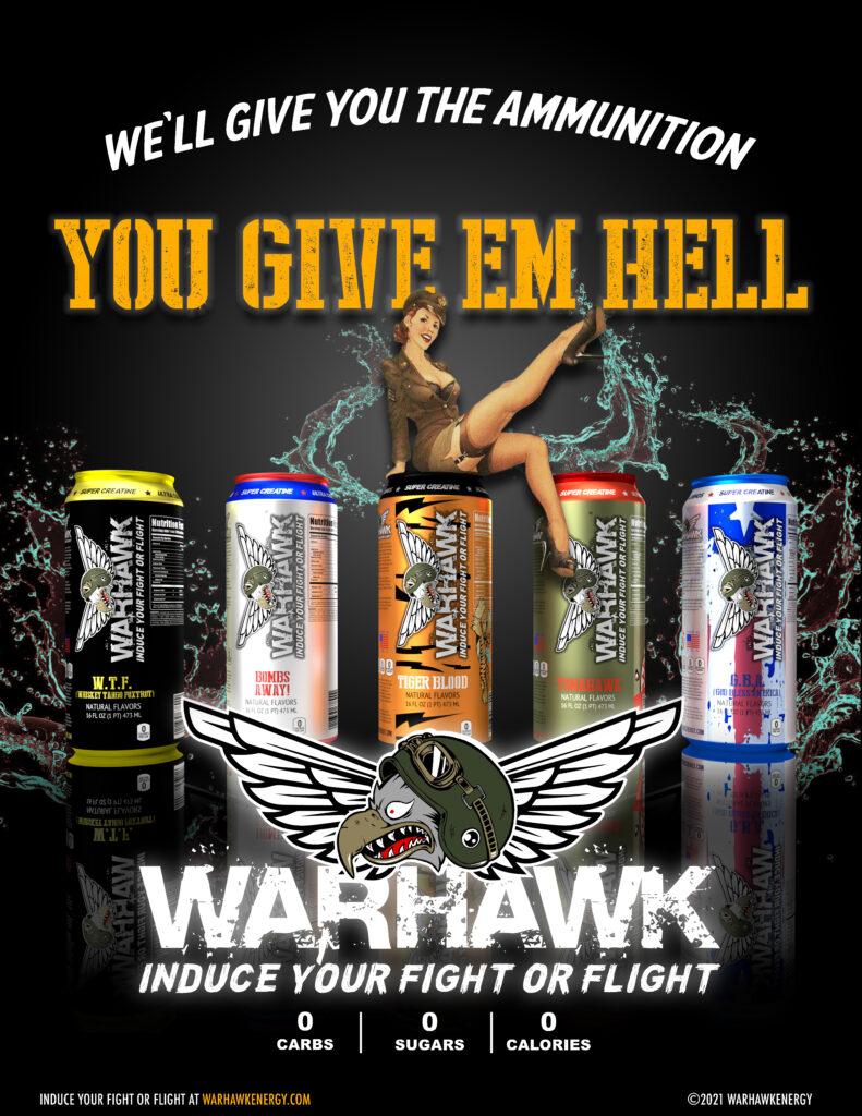 Warhawk Energy Drink Magazine Advertisement